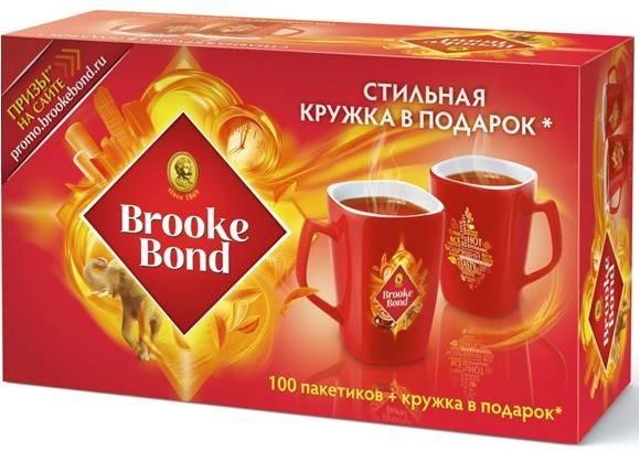 Чай brooke bond кружка в подарок 60