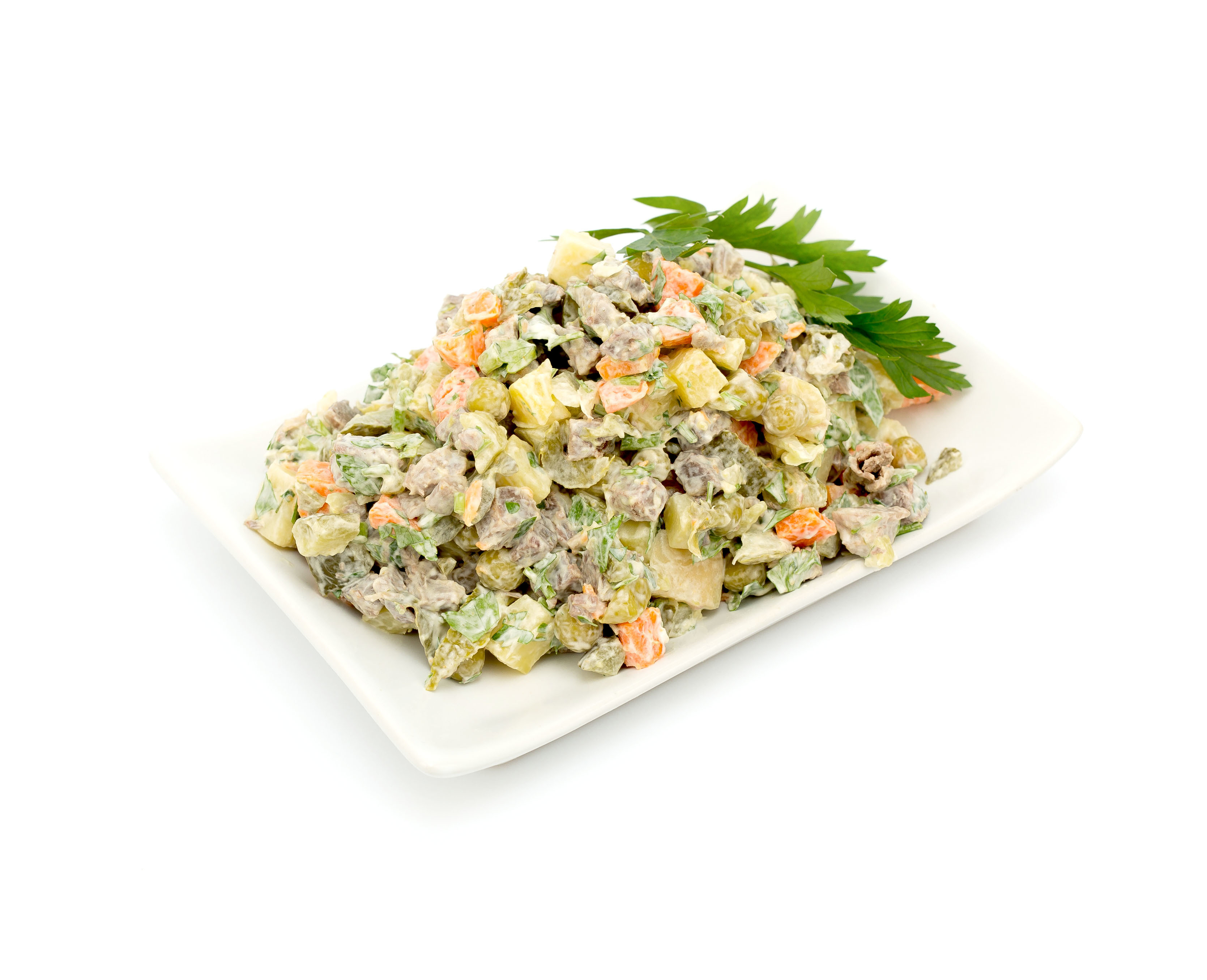 Салат мясной на одну порцию