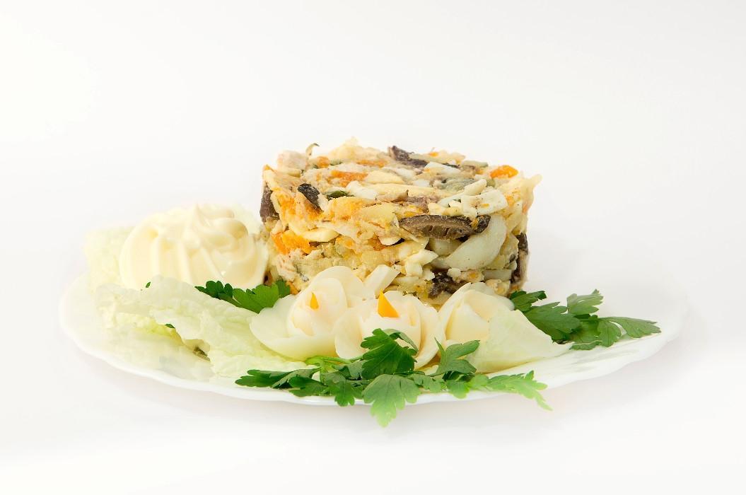 Салат курица огурец картофель грибы